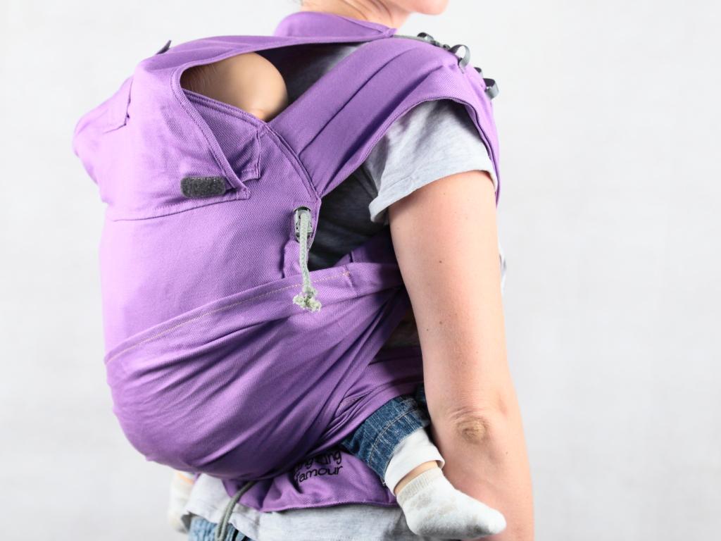 Porter bébé sur le dos confortablement en Mid-Taï+
